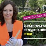 Gemeinsam für einen sauberen Kiez: Müllsammeln rund um das Planschbecken am Nordbahnhof