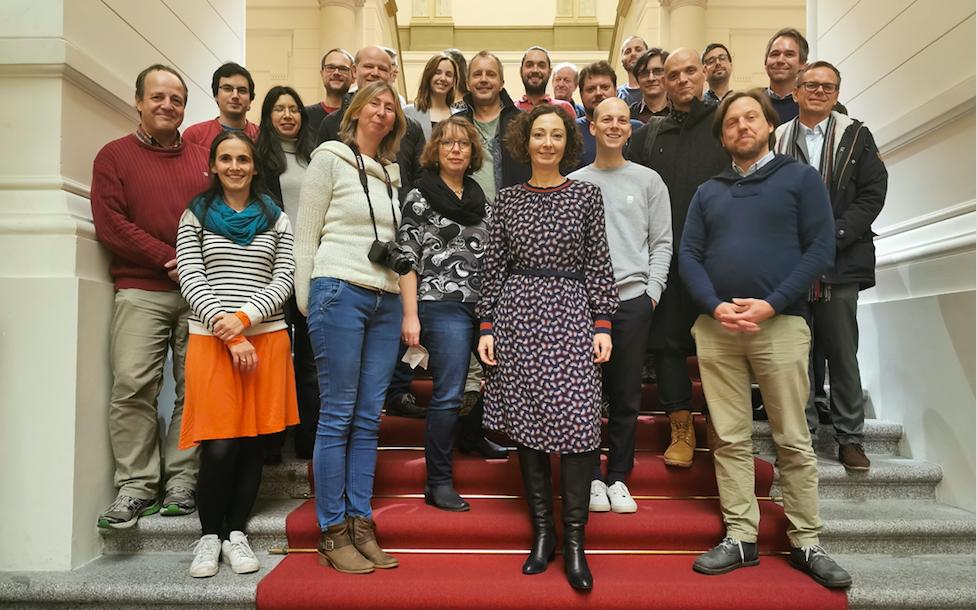 Führung für Neumitglieder durch das Berliner Abgeordnetenhaus